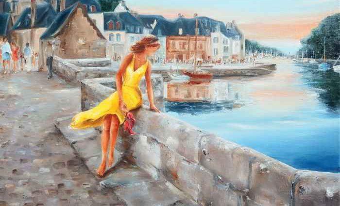 Женщина в желтом. Marie-Laure Souq 1