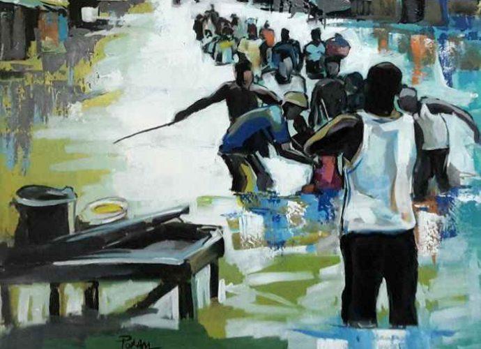 Камерунский художник. Rostand Pokam 1