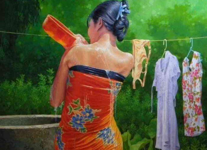 Мьянманский художник. Aung Thiha 9