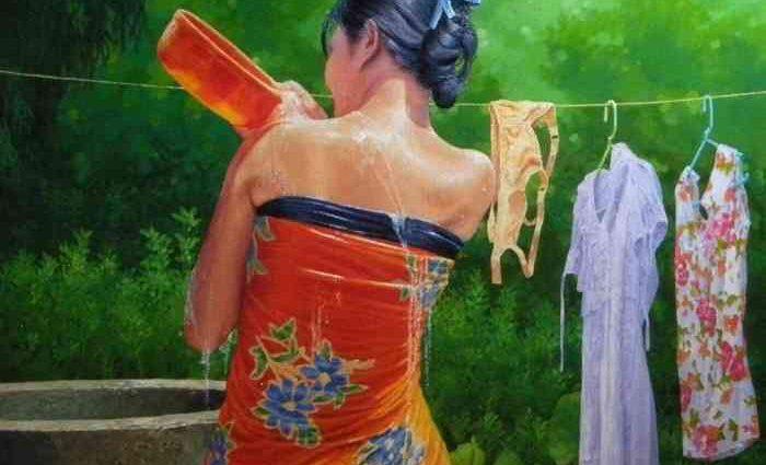 Мьянманский художник. Aung Thiha 1