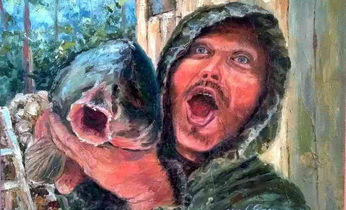 Современная картина о рыбалке, эффект присутствия 1