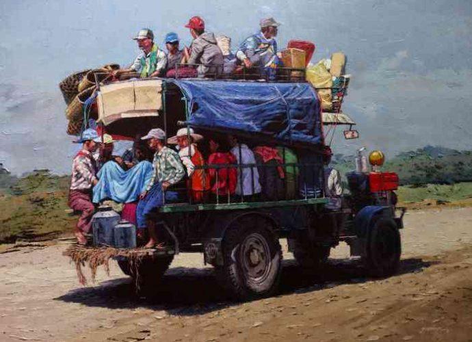 Художник из Мьянмы. Ye Aung Myat 7