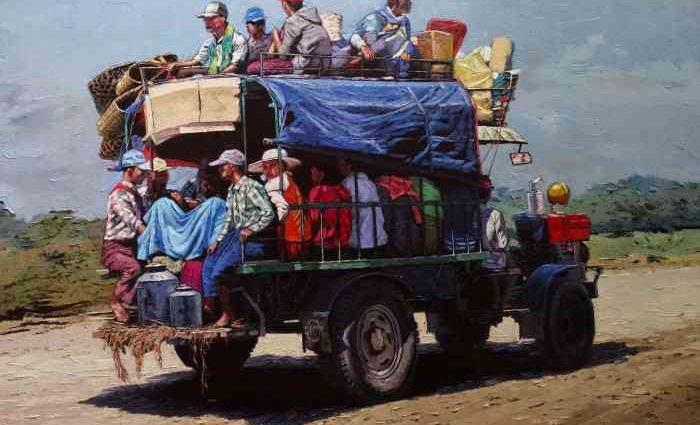 Художник из Мьянмы. Ye Aung Myat 1