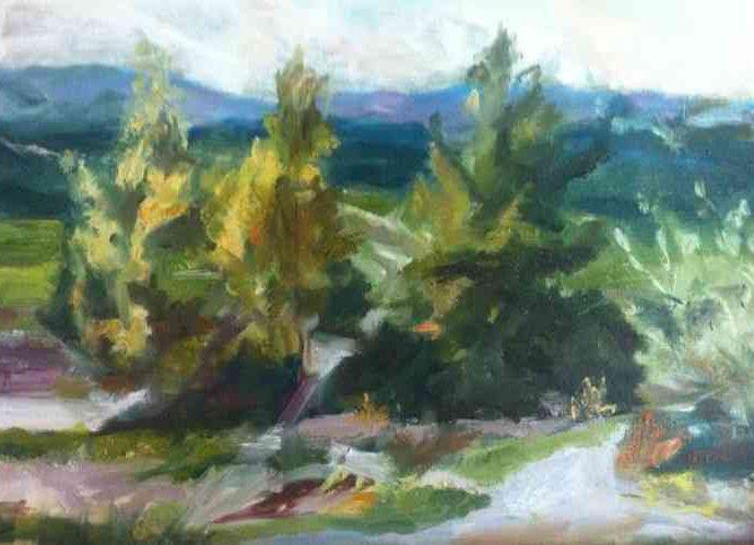 Израильская художница. Zavi Apfelbaum 125