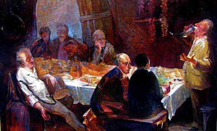 Грузинский художник. Zurab Janiashvili 1