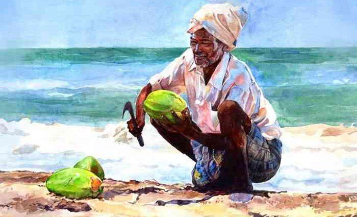Индийский акварельный художник. Abdul Salim 1