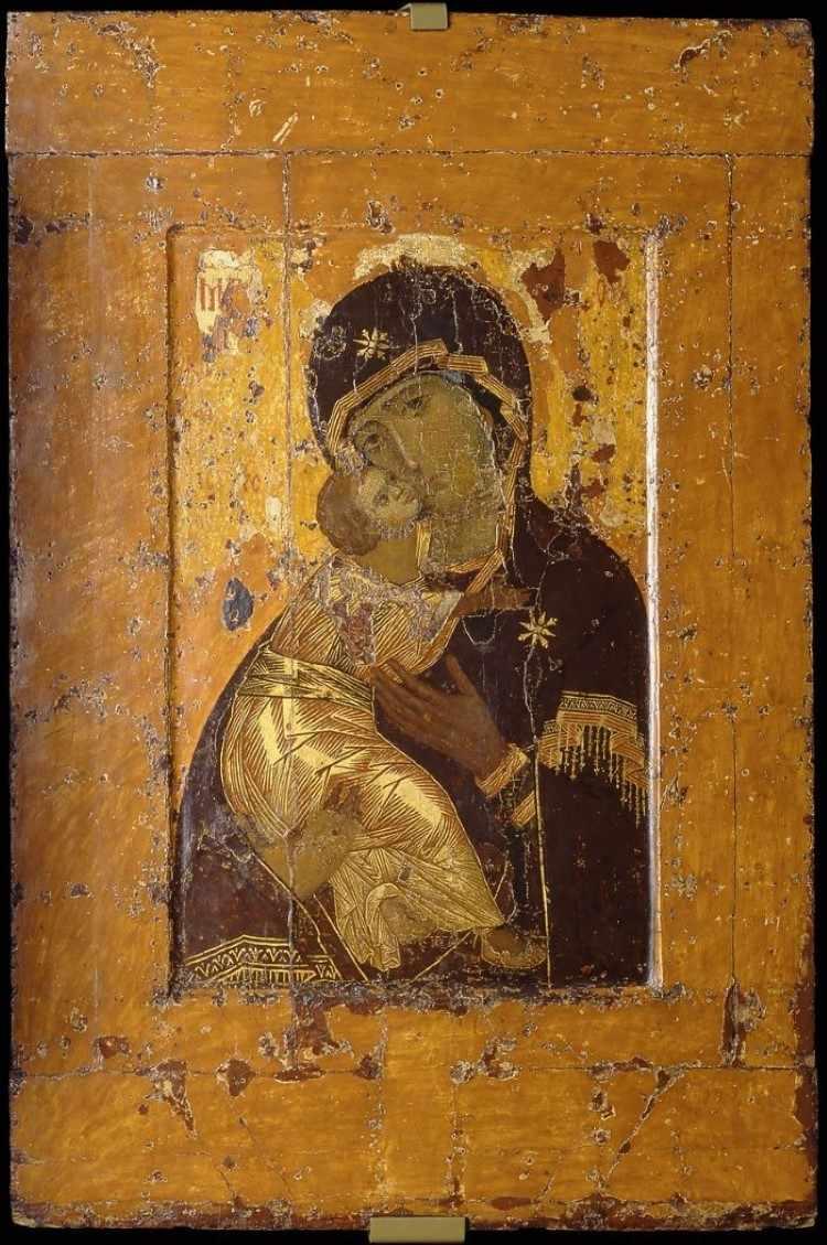 Икона Владимирской Богородицы. 12 век