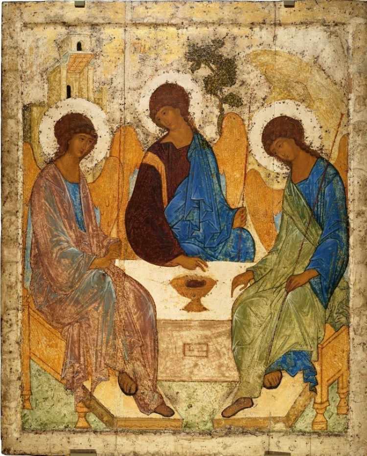 Икона Троицы. Андрей Рублёв. Ок. 1411 г.
