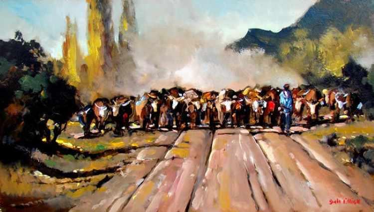 Современный южноафриканский художник. Dale Elliot 14
