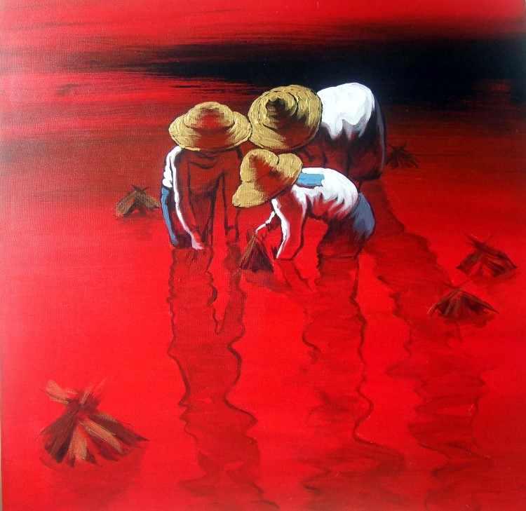 Художник из Мьянмы. Dawei Lay 3