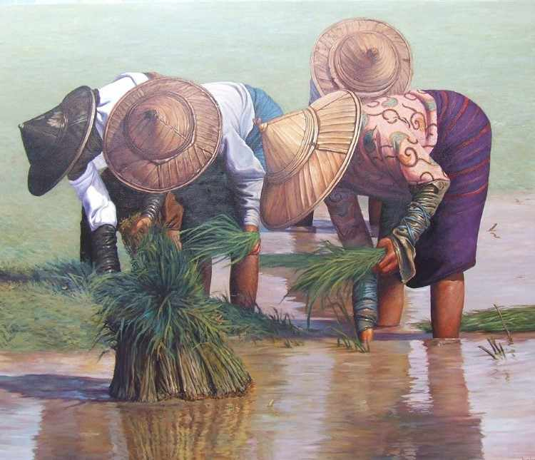 Художник из Мьянмы. Dawei Lay 4