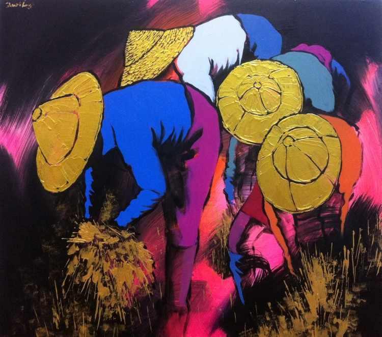 Художник из Мьянмы. Dawei Lay 7