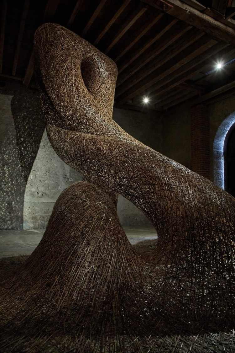 Плетеные бамбуковые инсталляции. Tanabe Chikuunsai IV 2