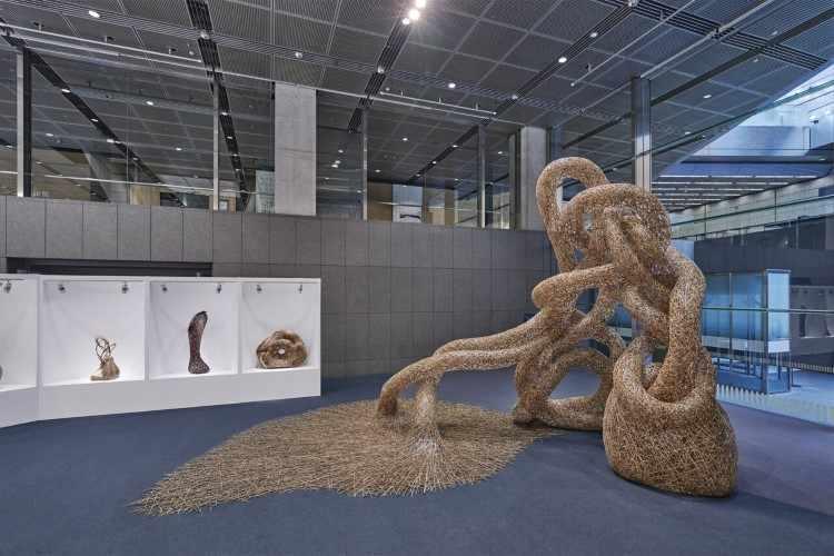 Плетеные бамбуковые инсталляции. Tanabe Chikuunsai IV 6