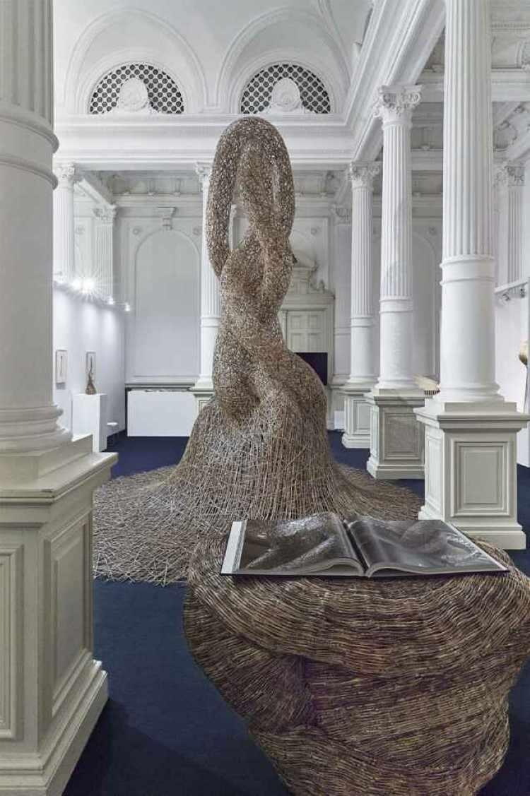 Плетеные бамбуковые инсталляции. Tanabe Chikuunsai IV 7