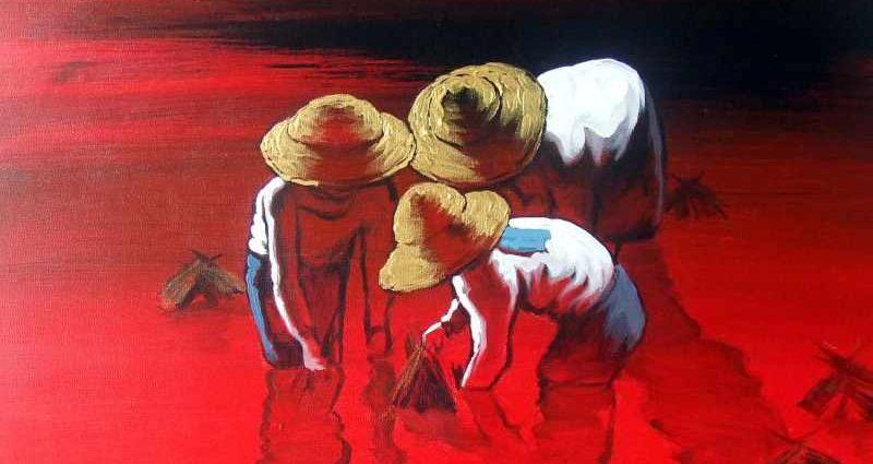 Художник из Мьянмы. Dawei Lay 1