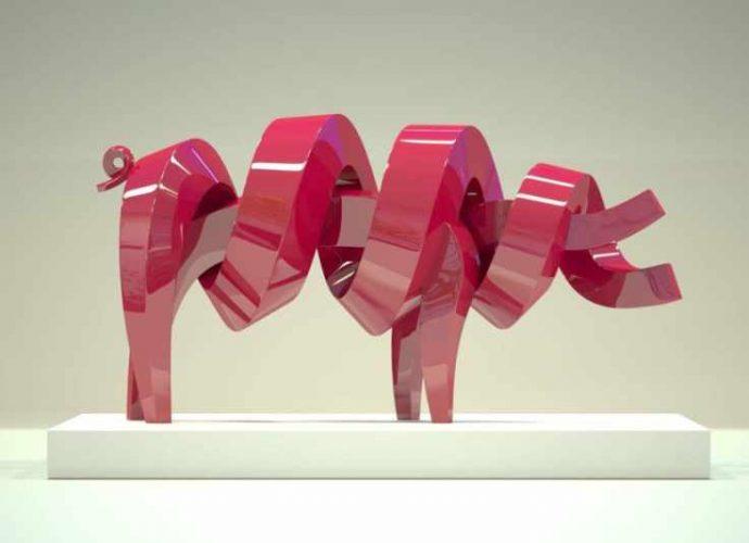 Спиралевидные животные и люди из металла. Lee Sangsoo (скульптуры) 3